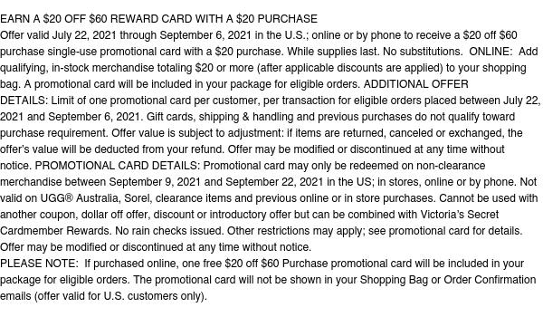 Reward Card Earn - Starting 7/22